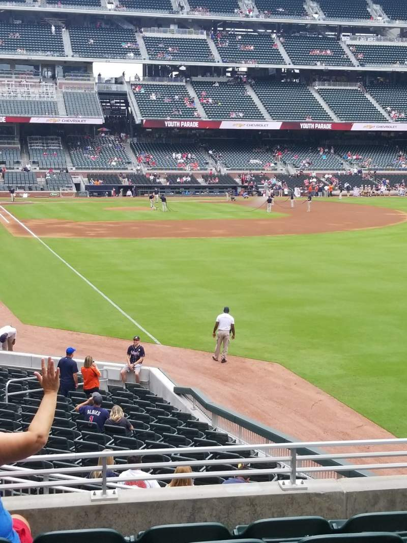 Seating view for SunTrust Park Section 107 Row 6 Seat 14