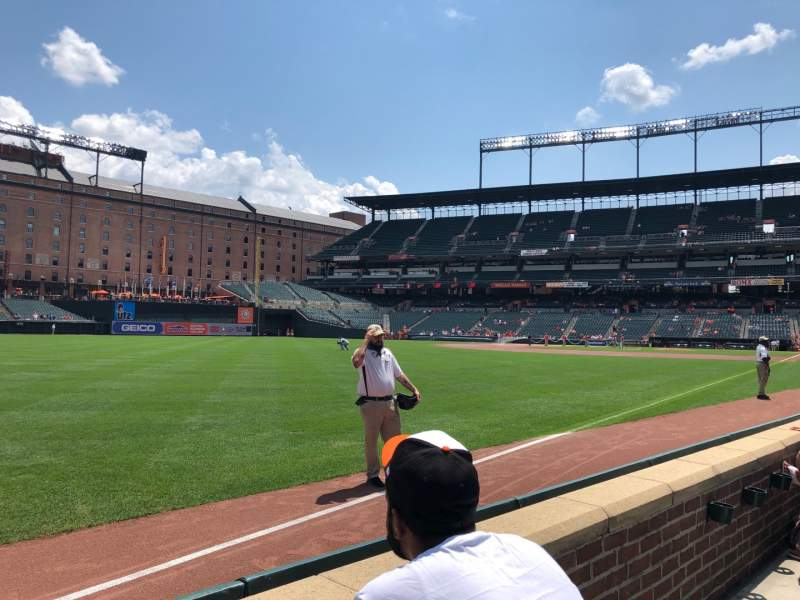 Seating view for Oriole Park at Camden Yards Section 70 Row 2 Seat 5