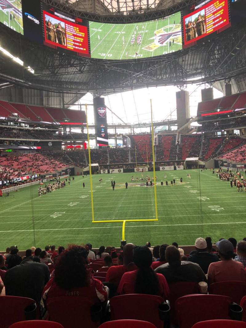 Seating view for Mercedes-Benz Stadium Section 119 Row 23 Seat 8