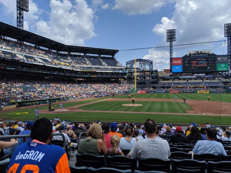 Seating view for PNC Park Section 110 Row L Seat 14