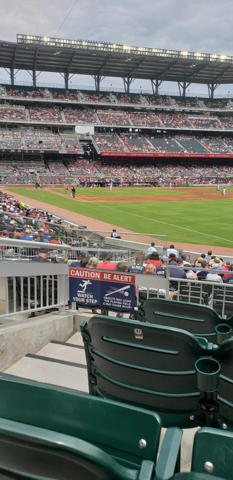 Seating view for SunTrust Park Section 110 Row 4 Seat 8 and 9