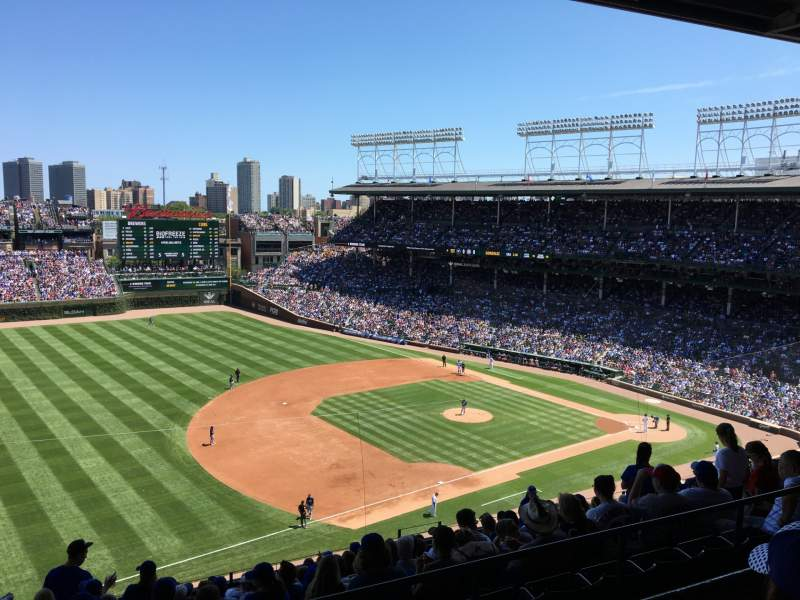 Seating view for Wrigley Field Section 408L Row 2 Seat 7