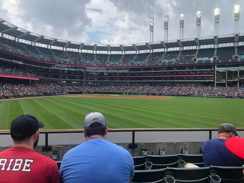 Seating view for Progressive Field Section 103 Row E Seat 10