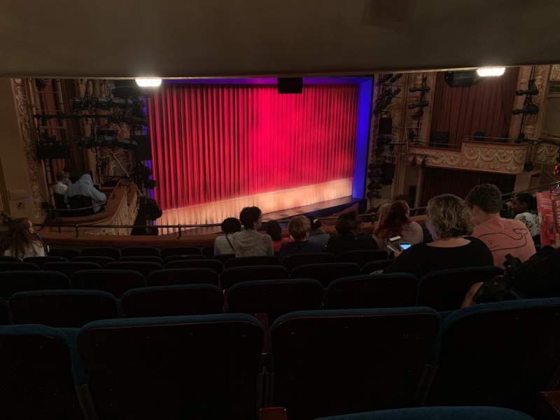 Seating view for Longacre Theatre Section Mezzanine L Row H Seat 24