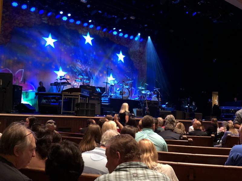 Seating view for Ryman Auditorium Section MF-7 Row M Seat 4-5