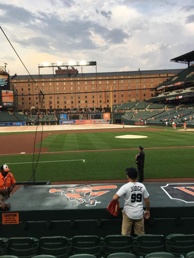 Seating view for Oriole Park at Camden Yards Section 52 Row 6 Seat 10
