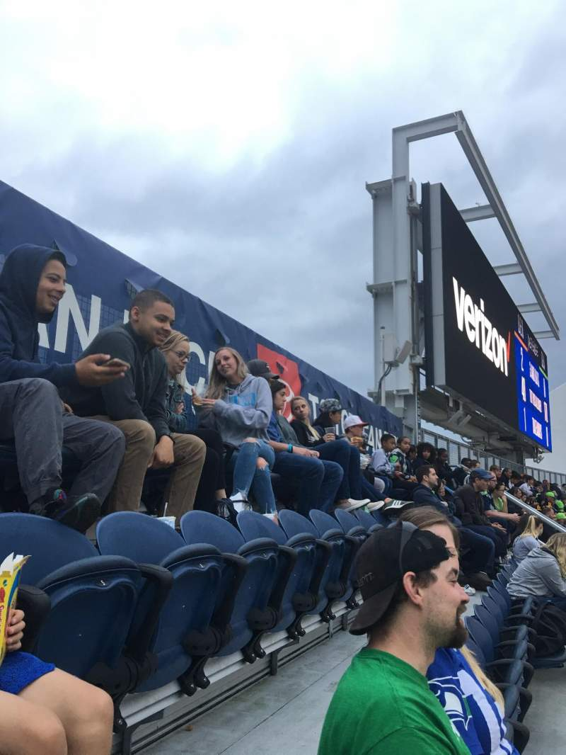 Seating view for CenturyLink Field Section 324 Row CC Seat 1-2