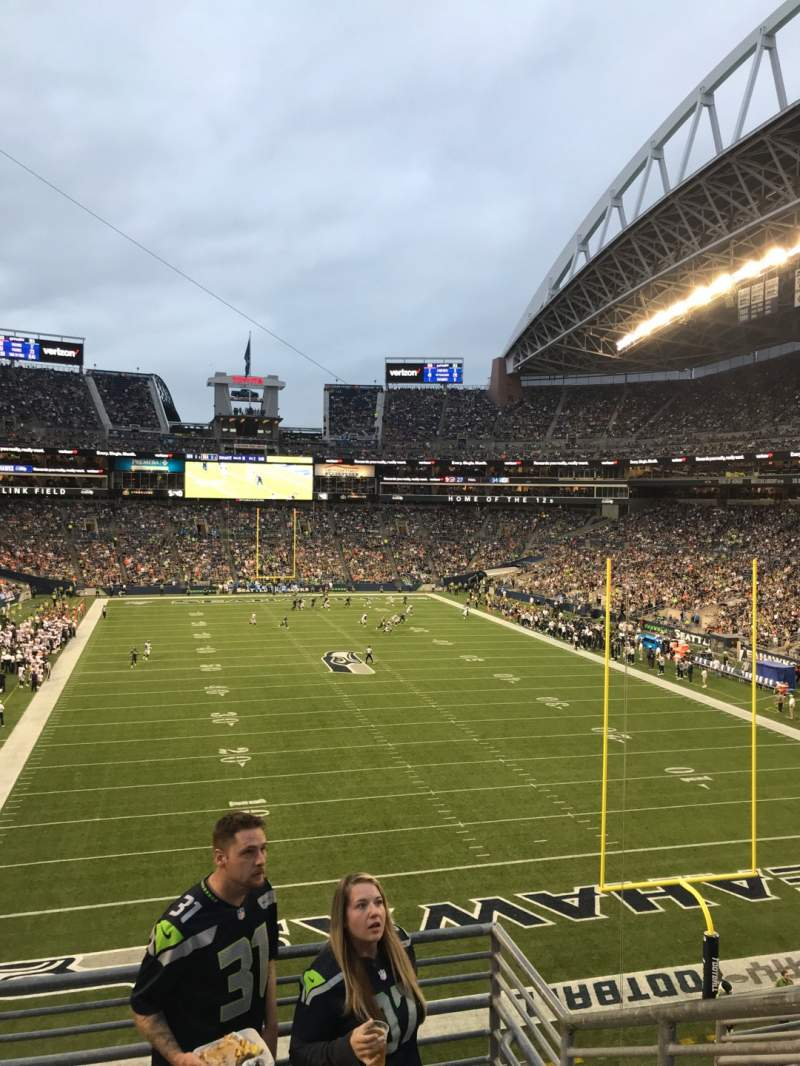 Seating view for CenturyLink Field Section 150 Row P Seat 1