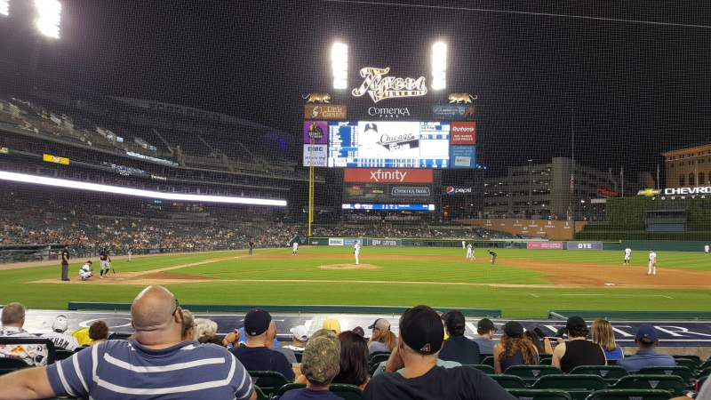 Seating view for Comerica Park Section 122 Row 15 Seat 16