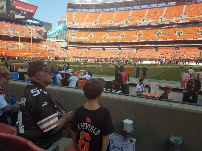 Seating view for FirstEnergy Stadium Section 136 Row 2 Seat 19
