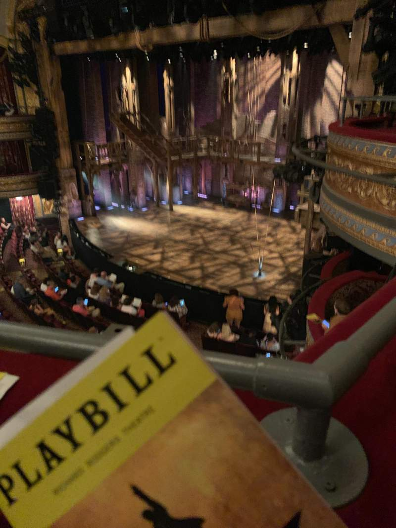 Seating view for Richard Rodgers Theatre Section Front Mezzanine R Row A Seat 28