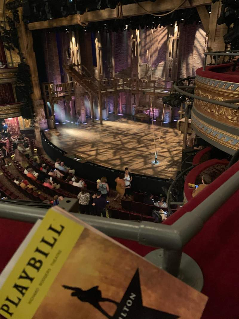 Seating view for Richard Rodgers Theatre Section Front Mezzanine R Row A Seat 26