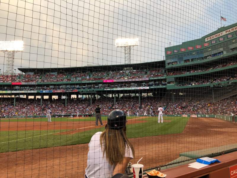 Seating view for Fenway Park Section Field Box 76 Row 2 Seat 1