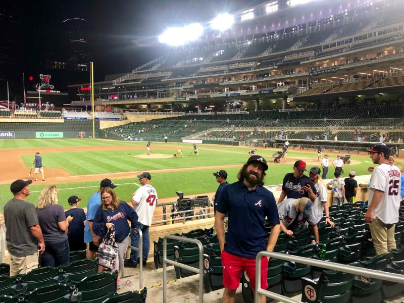 Seating view for Target Field Section 17 Row 6 Seat 8