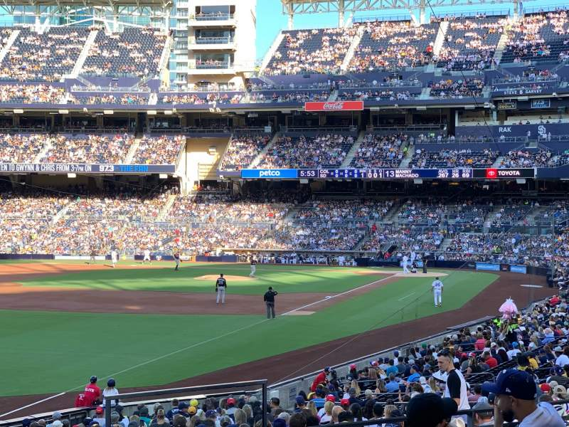 Seating view for PETCO Park Section 124 Row 32 Seat 1