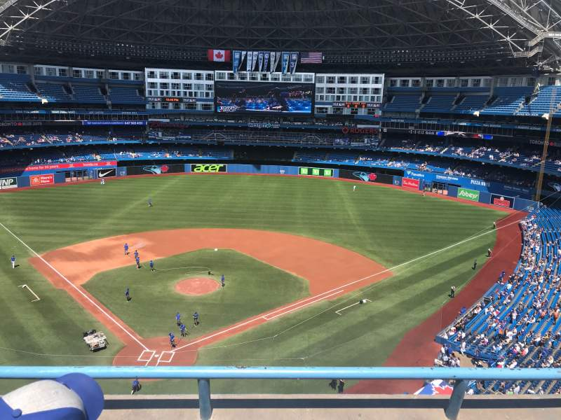 Seating view for Rogers Centre Section 523L Row 2 Seat 104