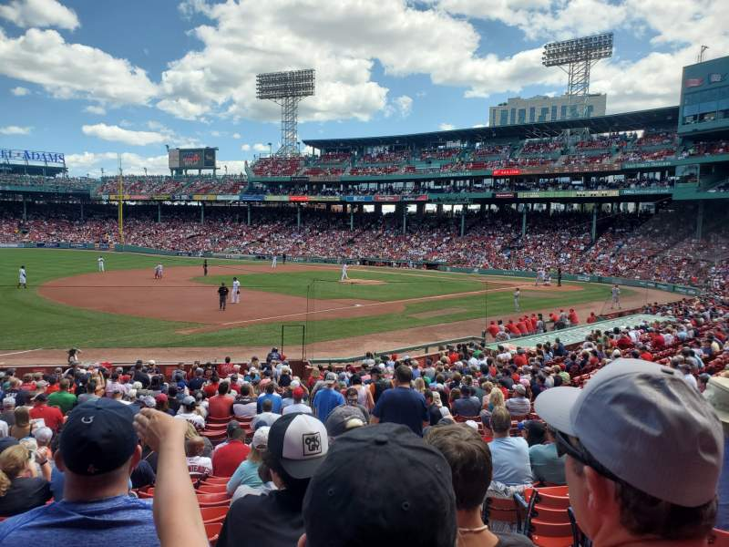 Seating view for Fenway Park Section Loge Box 158 Row LL Seat 2