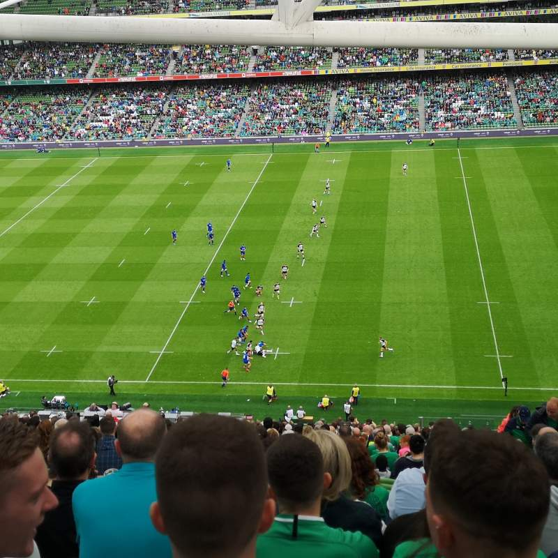 Seating view for Aviva Stadium Section 542 Row GG Seat 18