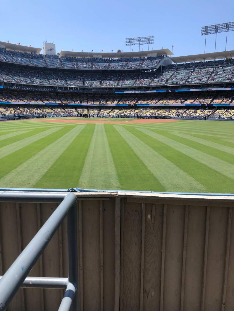 Seating view for Dodger Stadium Section 310PL Row A Seat 1