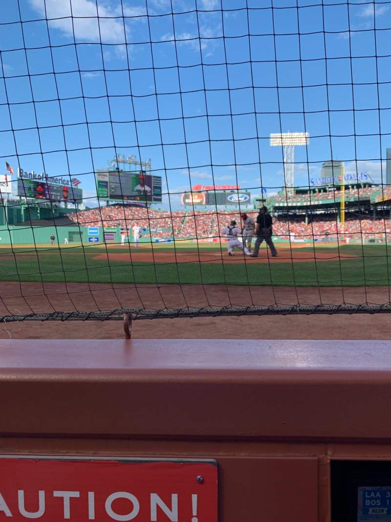 Seating view for Fenway Park Section Field Box 48 Row A1 Seat 4