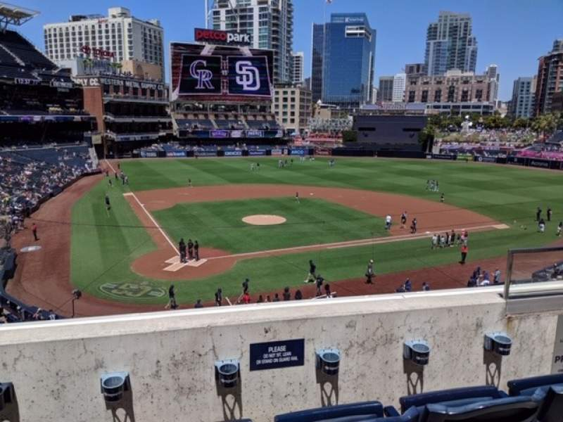 Seating view for Petco Park Section 201 Row 3 Seat 14