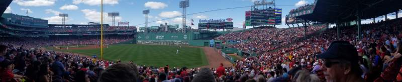 Seating view for Fenway Park Section Right Field Box 92 Row VV Seat 12