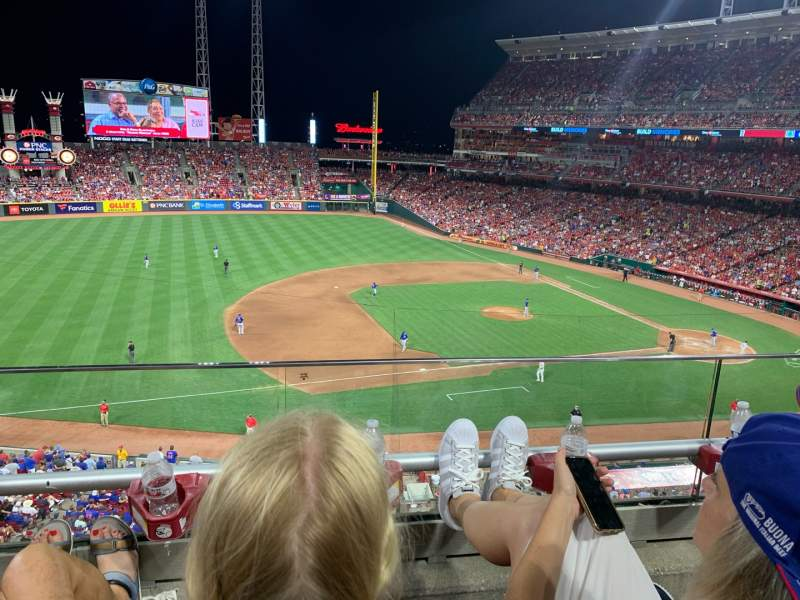 Seating view for Great American Ball Park Section 416 Row B Seat 22