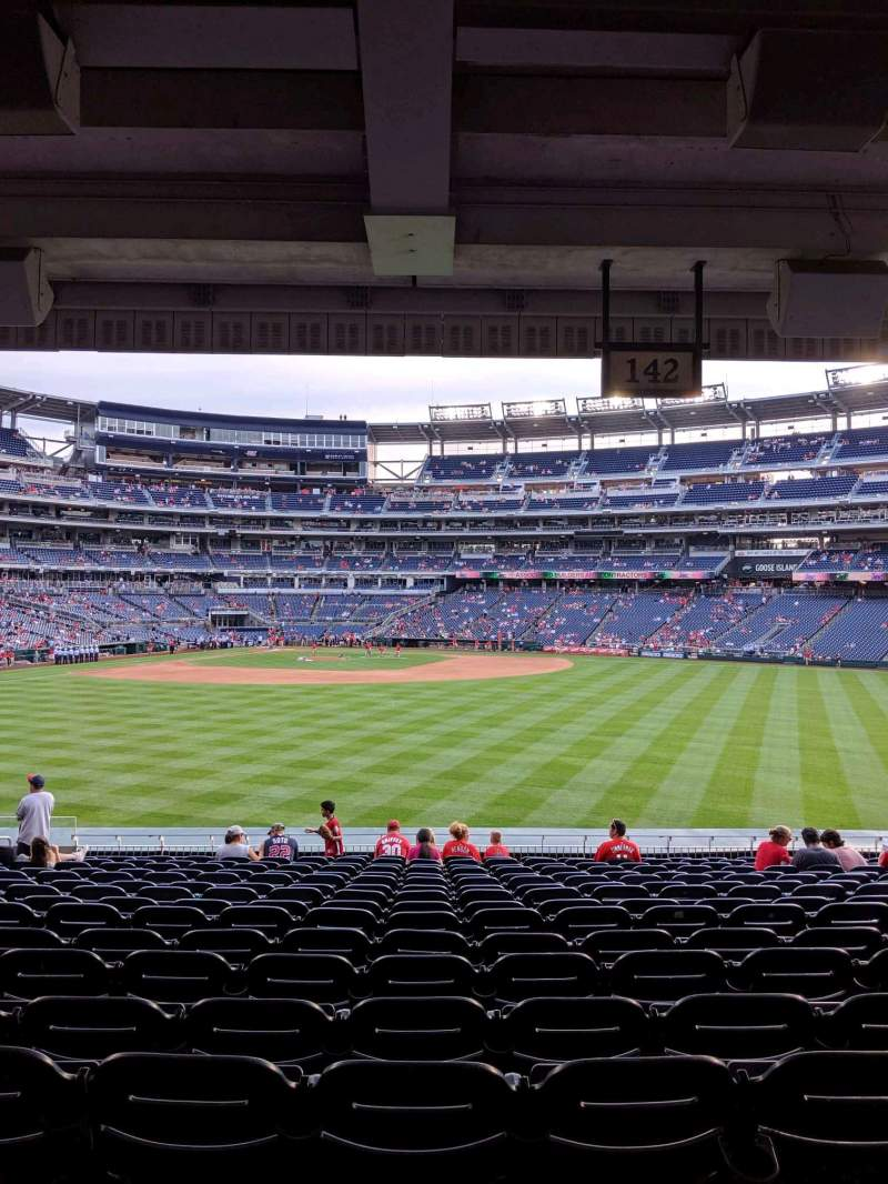 Seating view for Nationals Park Section 142 Row T Seat 18