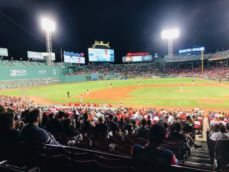 Seating view for Fenway Park Section Grandstand 25 Row 3 Seat 9