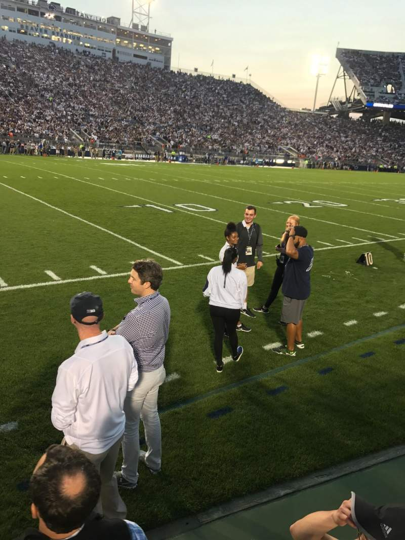 Seating view for Beaver Stadium Section EA Row WC