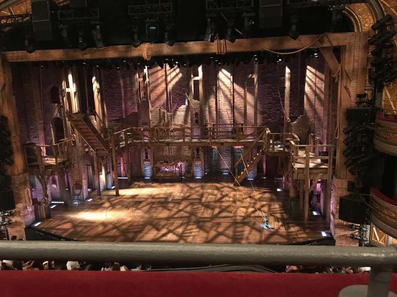 Seating view for Richard Rodgers Theatre Section Front Mezz Row A Seat 101