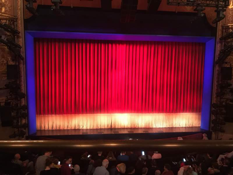Seating view for Longacre Theatre Section Mezzanine C Row A Seat 110