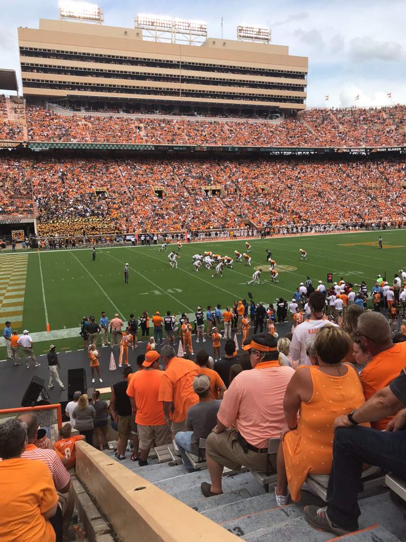 Seating view for Neyland Stadium Section X1 Row 11 Seat 1