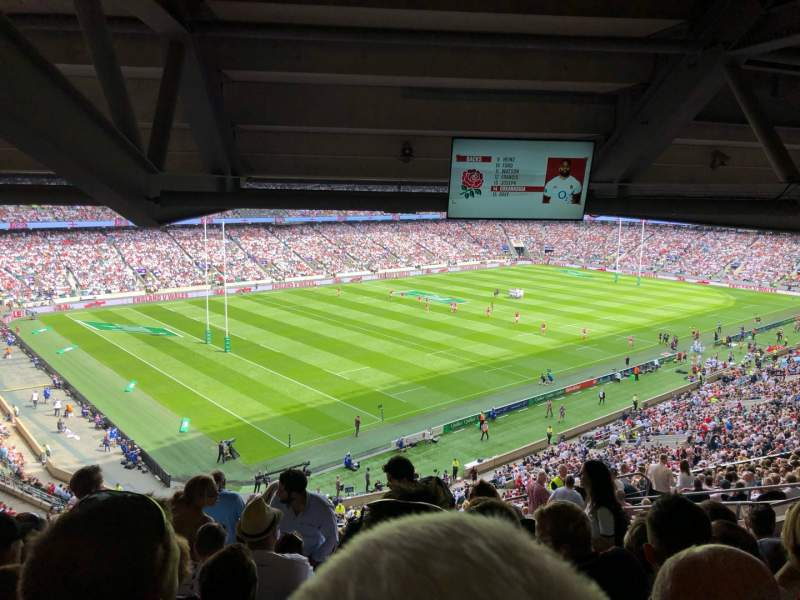 Seating view for Twickenham Stadium Section M13 Row 75 Seat 364