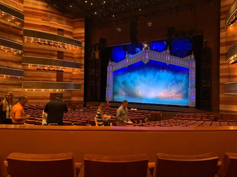 Seating view for Eccles Theater Section Orchestra R Row UU Seat 115