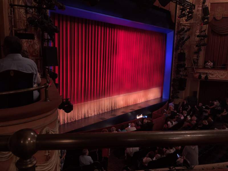 Seating view for Longacre Theatre Section Mezzanine L Row A Seat 22