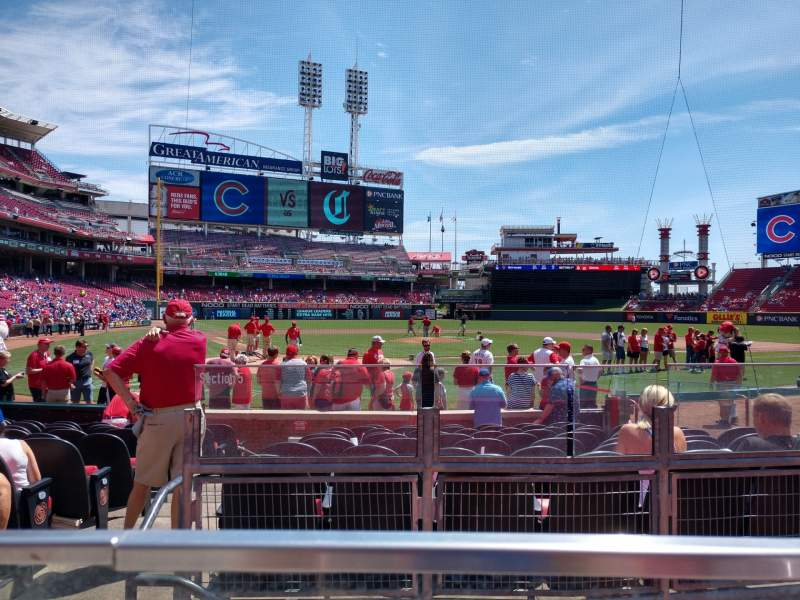 Seating view for Great American Ball Park Section 25 Row A Seat 9