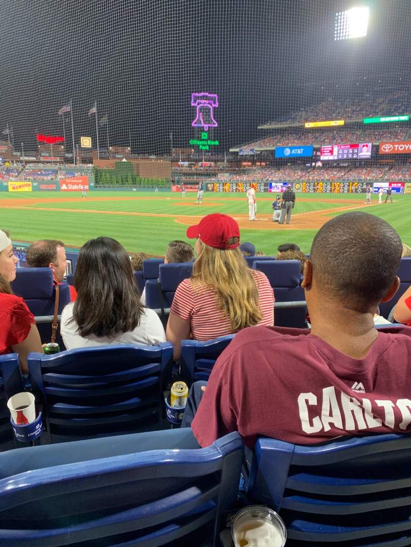 Seating view for Citizens Bank Park Section C Row 7 Seat 8