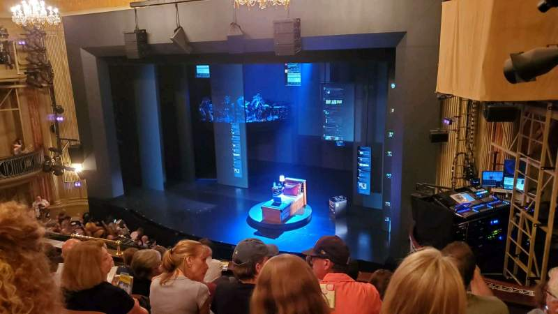 Seating view for Music Box Theatre Section Mezzanine R Row G Seat 22