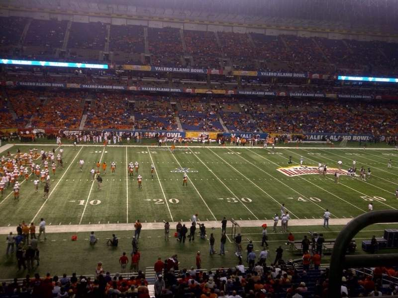Seating view for Alamodome Section 215 Row 2