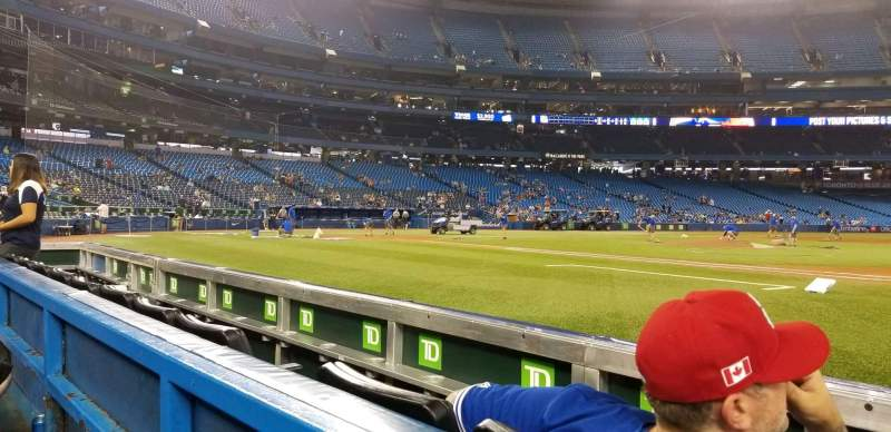 Seating view for Rogers Centre Section 115L Row 1 Seat 106