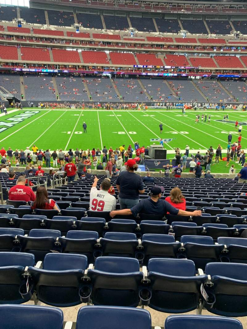 Seating view for NRG Stadium Section 109 Row W Seat 17
