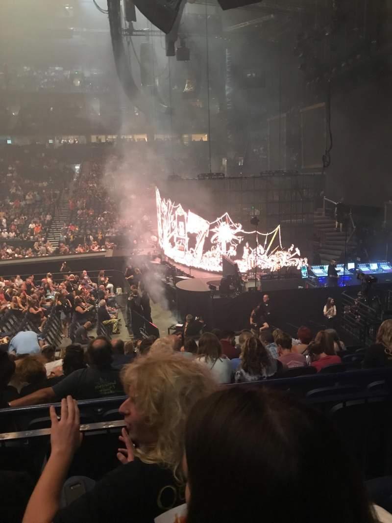 Seating view for Bridgestone Arena Section 107 Row C Seat 14