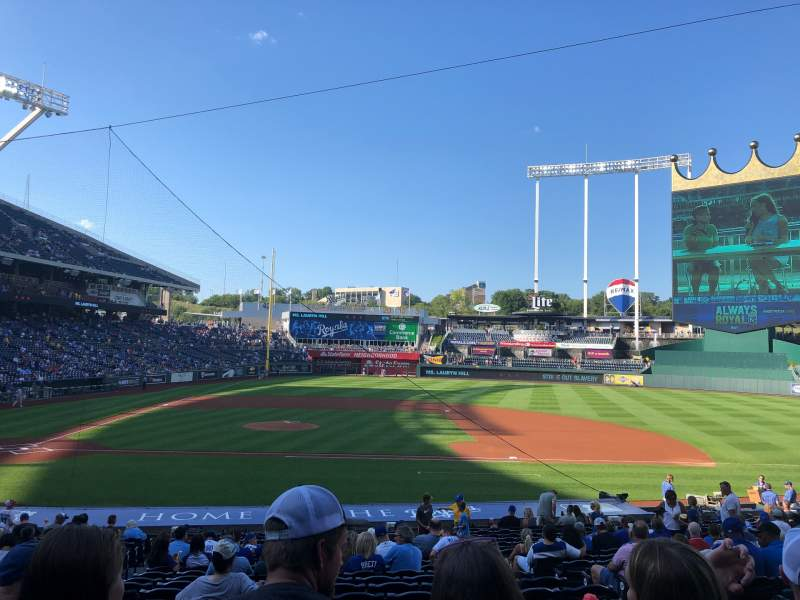 Seating view for Kauffman Stadium Section 134 Row X Seat 4