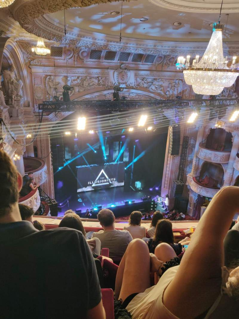 Seating view for Shaftesbury Theatre Section Grand Circle Row E Seat 28