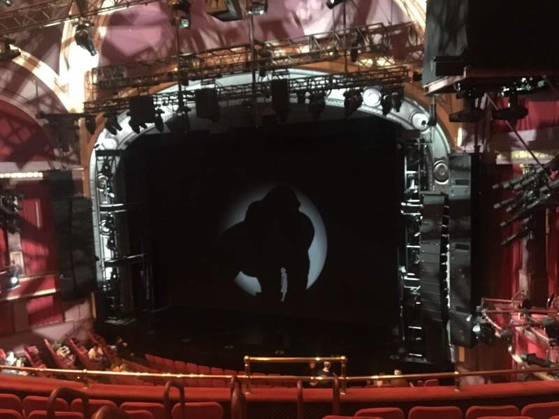 Seating view for Broadway Theatre - 53rd Street Section Front Mezzanine R Row F Seat 5