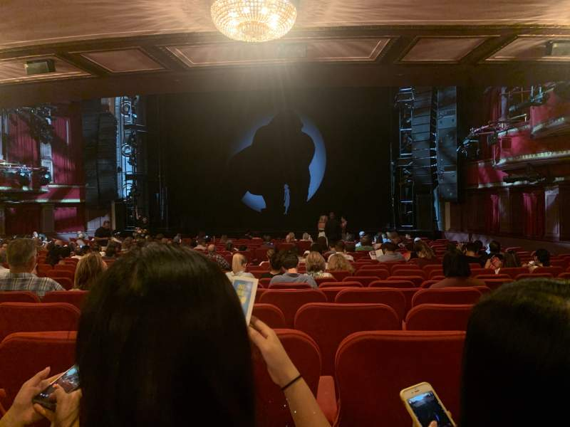 Seating view for Broadway Theatre - 53rd Street Section Orchestra R Row U Seat 13
