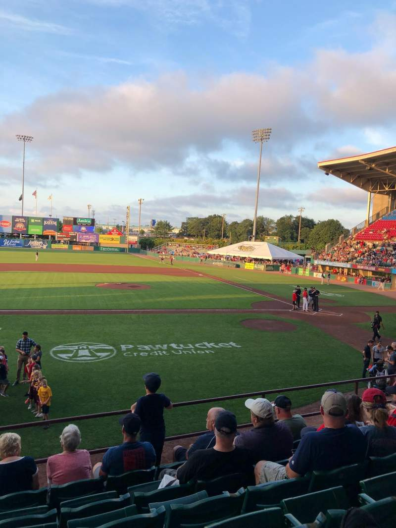 Seating view for McCoy Stadium Section 10 Row G Seat 17