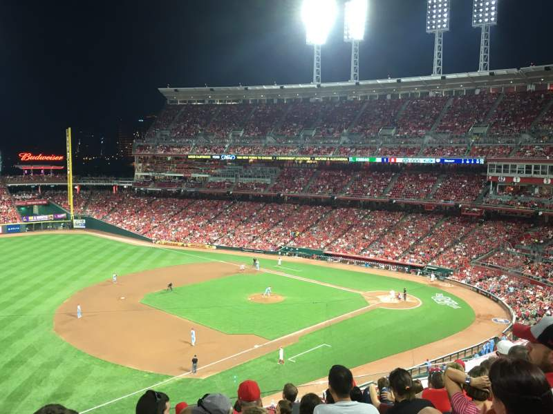 Seating view for Great American Ball Park Section 414 Row J Seat 22