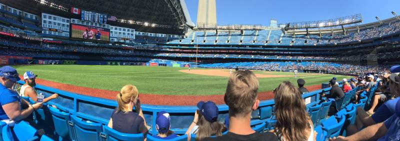 Seating view for Rogers Centre Section 129L Row 3 Seat 108